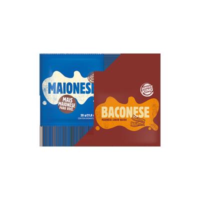 2 Sachês de Maionese ou Baconese - R$ 1,90