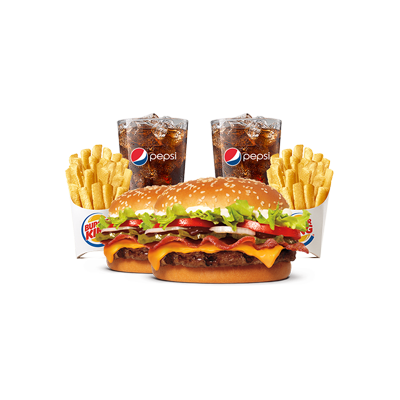 2 Combos WHOPPER® Barbecue Bacon com Batata Pequena - R$ 48,90