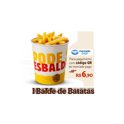 1 Balde de Batata - R$ 13,90